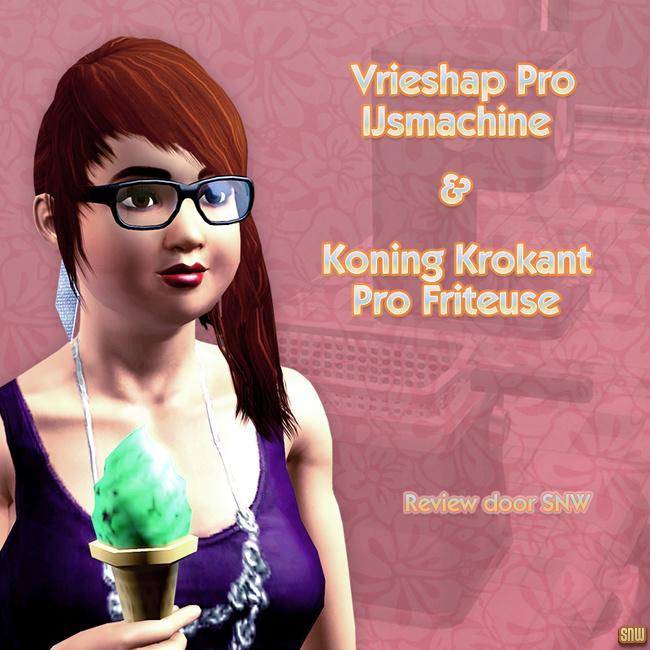 Koning Krokant Pro Friteuse en Vrieshap Pro IJsmachine (premium content voor De Sims 3)