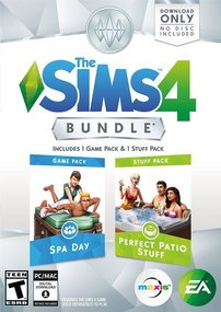 The Sims 4: Bundle Pack (Spa Day and Perfect Patio Stuff) Packshot Box Art