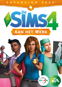 De Sims 4: Aan het Werk box art packshot