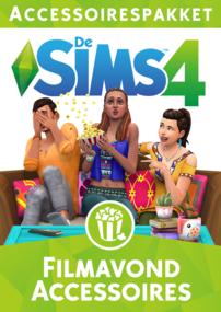 De Sims 4: Filmavond Accessoires box art packshot