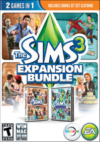 The Sims 3: Expansion Bundle packshot box art