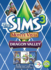 The Sims 3 Plus Monte Vista and Dragon Valley packshot box art