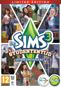 De Sims 3: Studententijd (Limited Edition) packshot box art