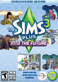 The Sims 3 Plus Into the Future packshot box art