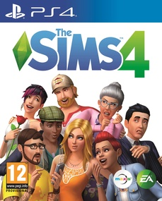 The Sims 4 on PS4 box art packshot