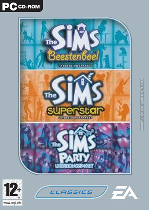 The Sims: Triple Expansion, volume one box art packshot