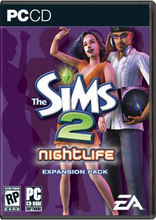 The Sims 2: Nightlife box art packshot US
