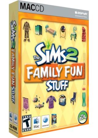 The Sims 2: Family Fun Stuff for Mac box art packshot