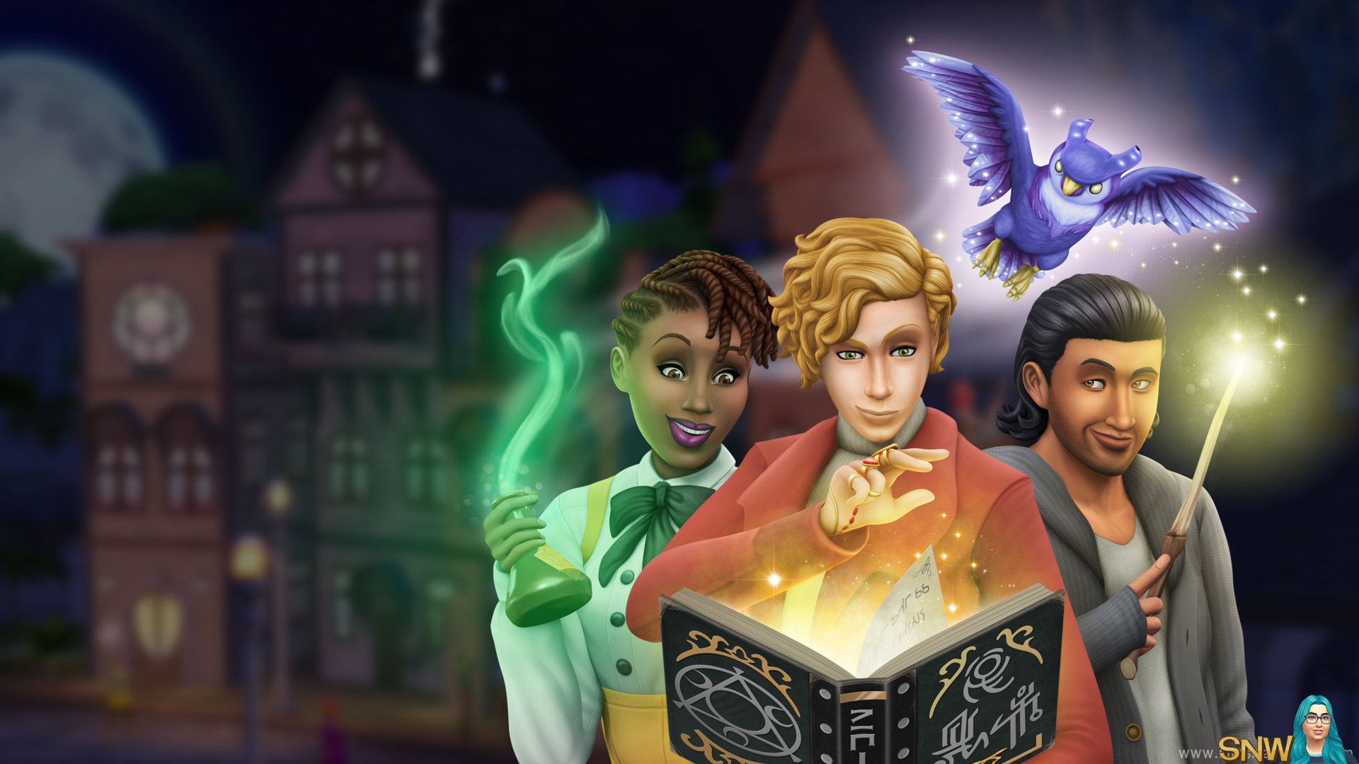 The Sims 4: Realm of Magic 2560x1440 widescreen wallpaper (right)